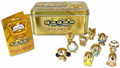 GoGo's Crazy Bones Collectors Tin Gold Series LE Part 1 #10 Exclusive Crazy Bones New Contents Stock Photo