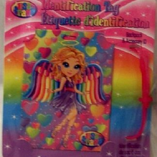Lisa Frank Angel Identification Tag New Front