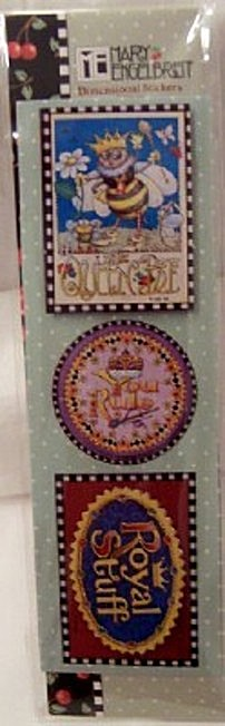 Mary Engelbreit Queen Bee Dimensional Stickers #3 New Front