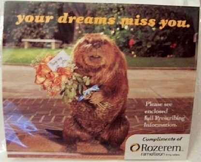 Rozerem Beaver Your Dreams Miss You Drug Rep Logo Ear Plugs New Sealed Front