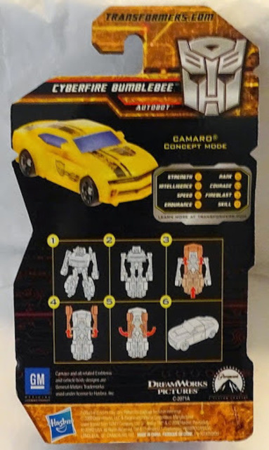 Transformers Cyberfire Bumblebee Camero Concept Autobot Figure New In Pack Back