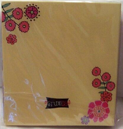 Wendy Bentley Refillable Address Book Floral Hardcover Binder New Back