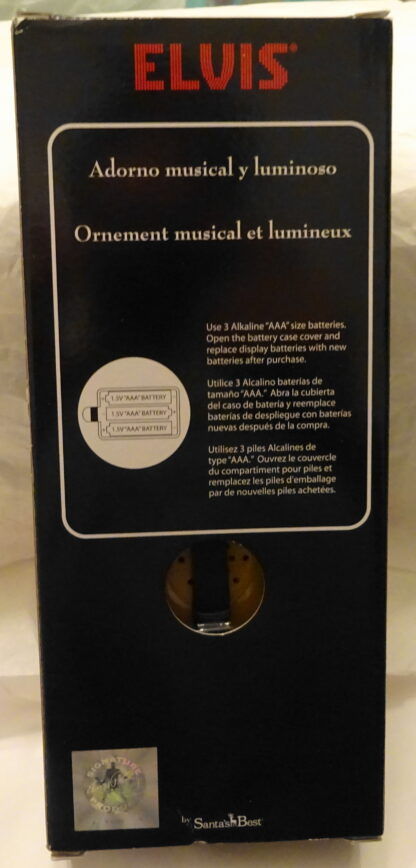 Elvis Guitar Musical Ornament #2 Songs Illuminated New Back