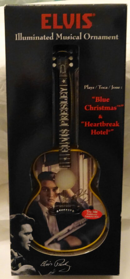 Elvis Guitar Musical Ornament #2 Songs Illuminated New Front