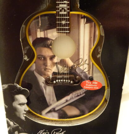 Elvis Guitar Musical Ornament #2 Songs Illuminated New Guitar Closeup 2