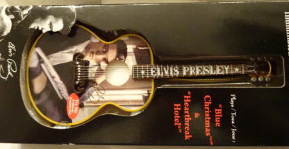 Elvis Guitar Musical Ornament #2 Songs Illuminated New Guitar Closeup