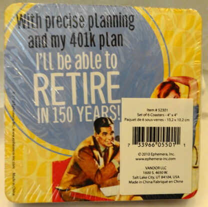 Retire 150 Years Coasters #6 New Back