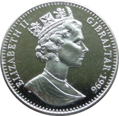 Gibraltar Roses Crown Coin 1996 Copper-Nickel Uncirculated QEII