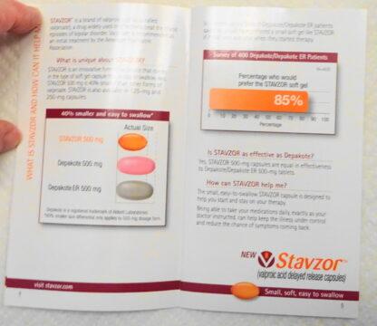 Stavzor Pillbox Travel Kit 2008 New Booklet Inside