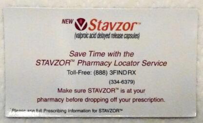 Stavzor Pillbox Travel Kit 2008 New Flat Magnet Front