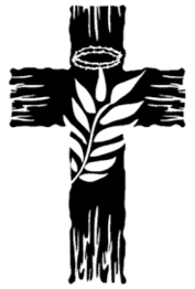 Cross in black with palm