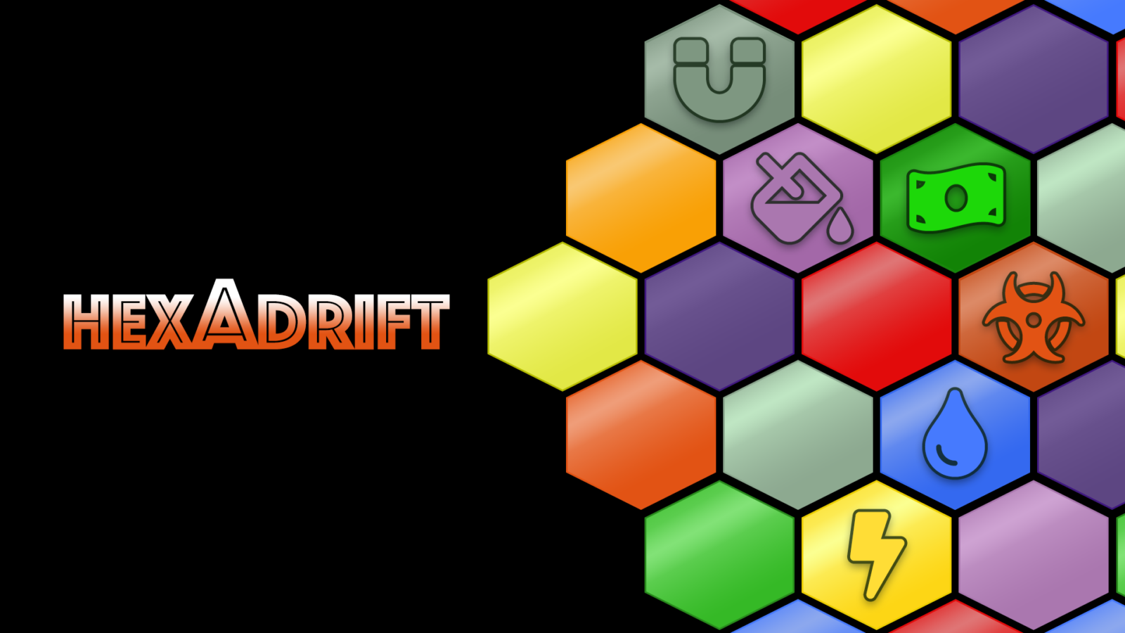 Hexadrift Title Screen