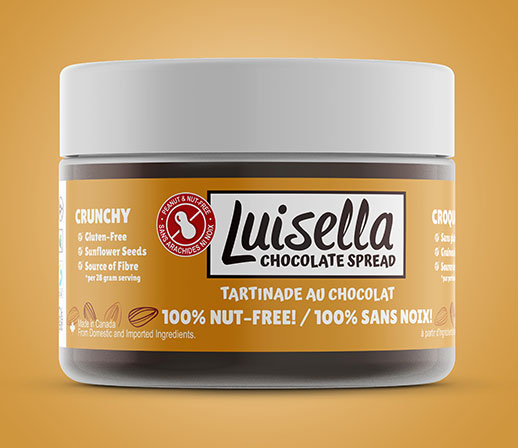 100% nut-free luisella chocolate spread | crunchy | made with sunflower seeds