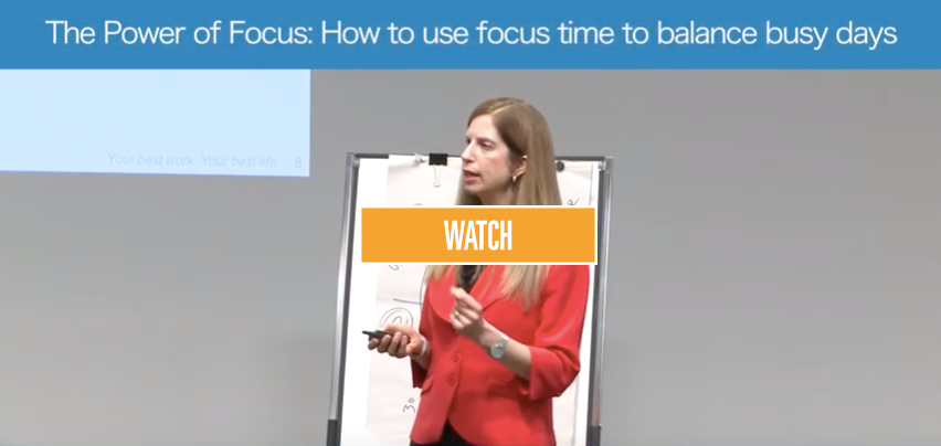The Power of Focus: How use focus time to balance busy days