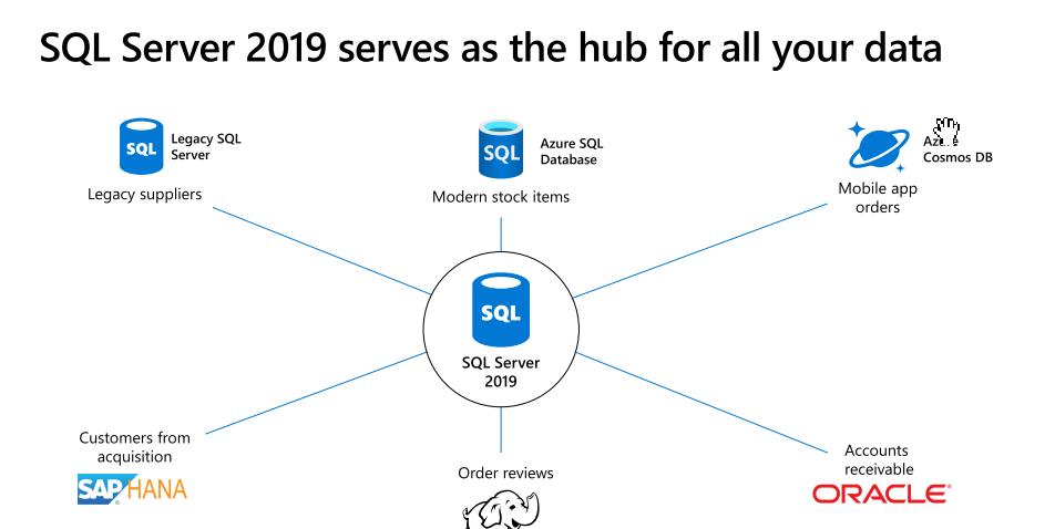 sql server 2019 data hub