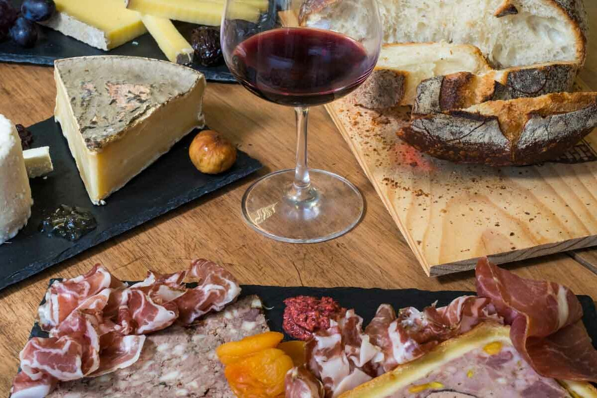 Wine and Charcuterie during an Ithaca Boat Tours Special Events Cruise