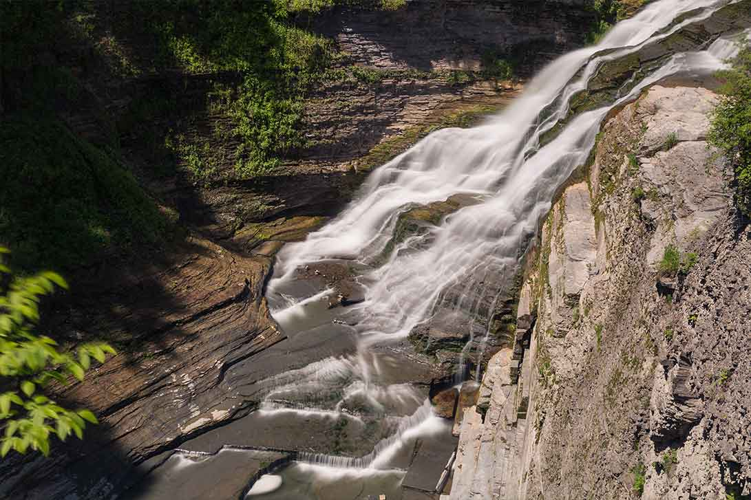 Buttermilk Falls, Ithaca New York, Finger Lakes, Central New York, Cayuga Lake, Local Gorges