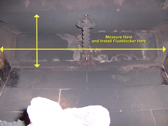 where to measure for a flueblocker