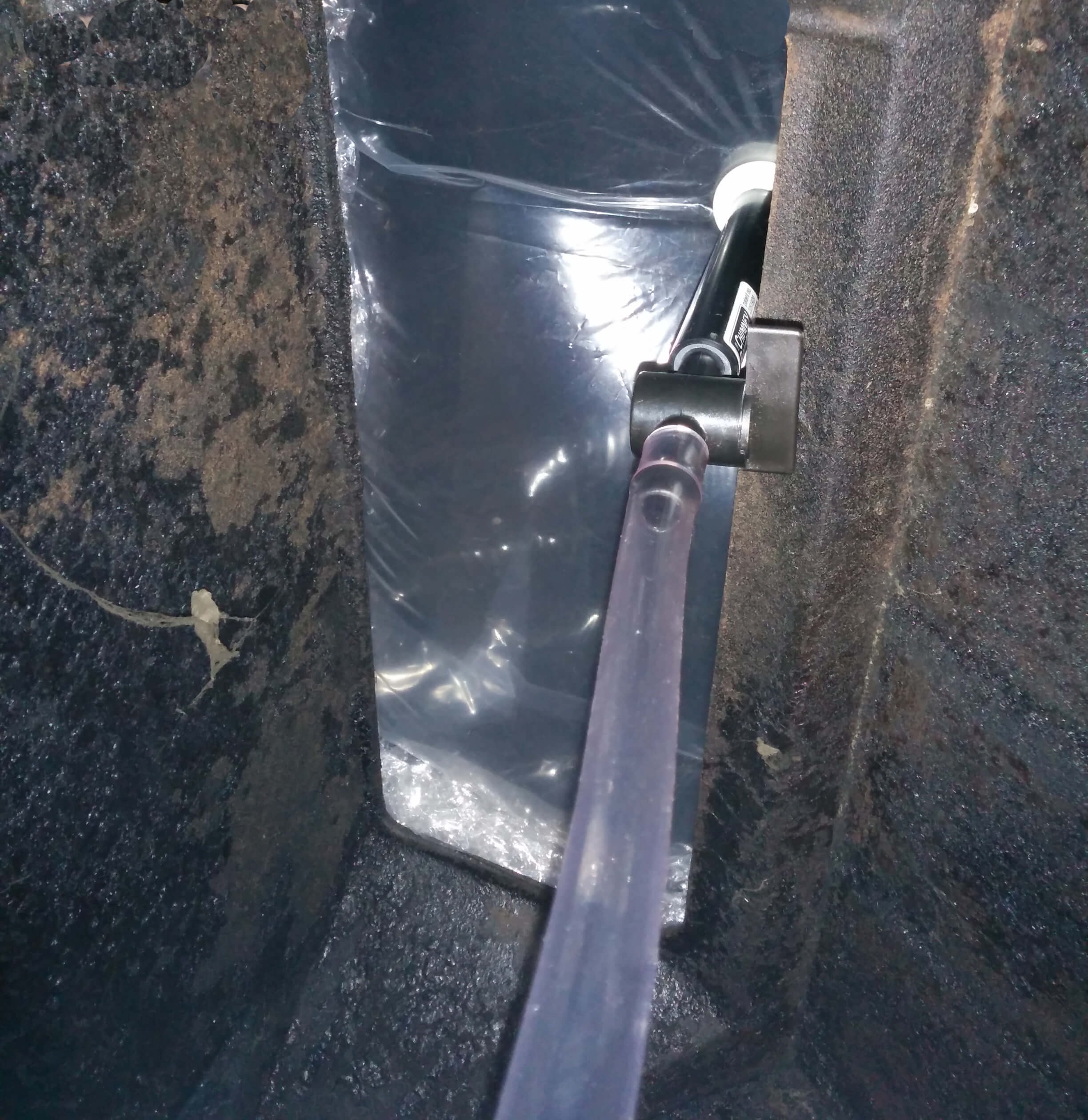 Chimney balloon in open damper
