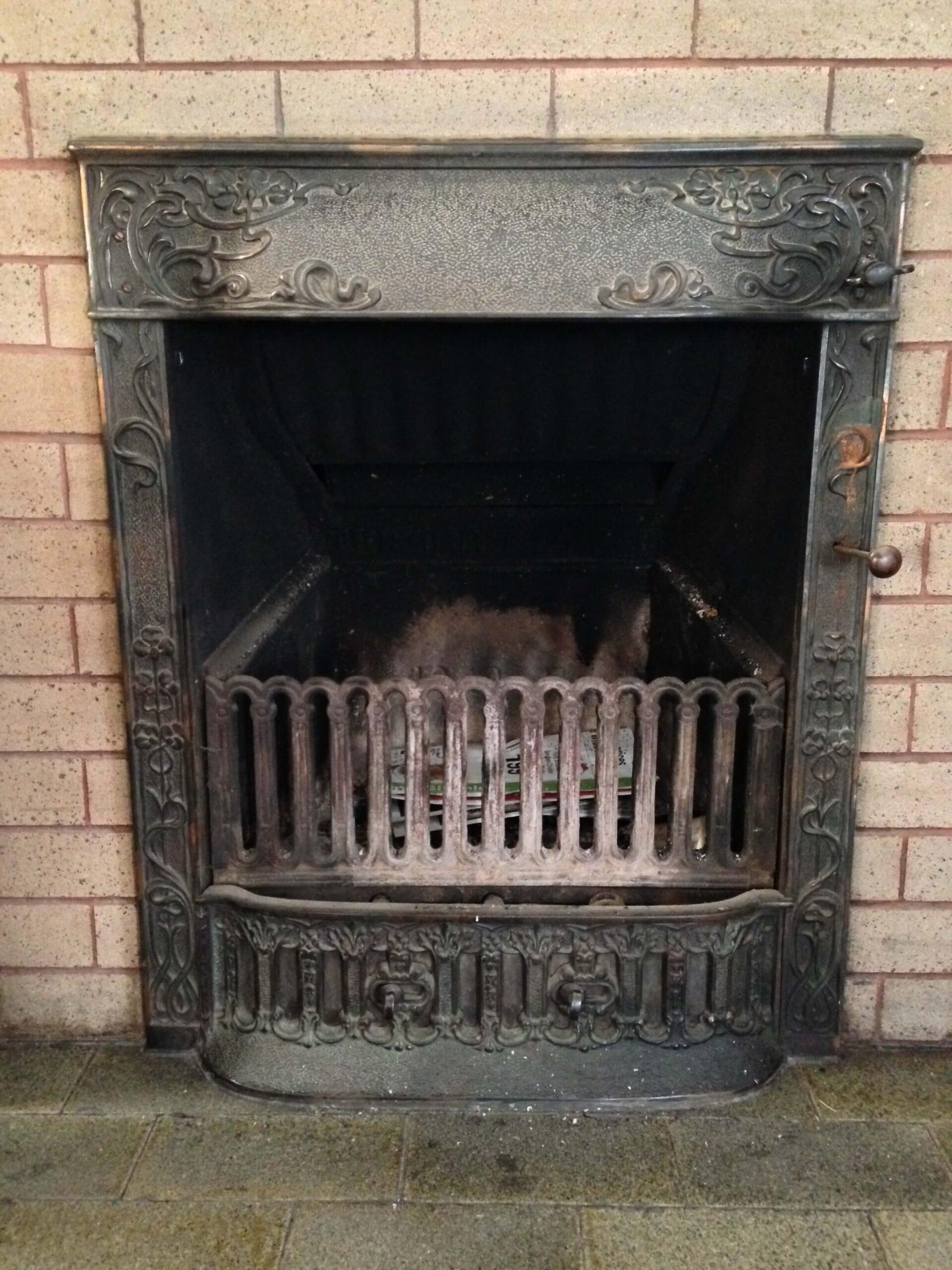 pocket coal burner fireplace