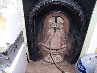 air seal a small coal burner fireplace