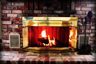 basement through the fireplace