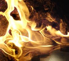 newspaper burn