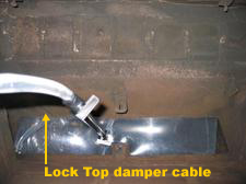 Lock top damper cable