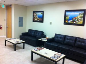 Waiting room for psychiatrist pleasanton office