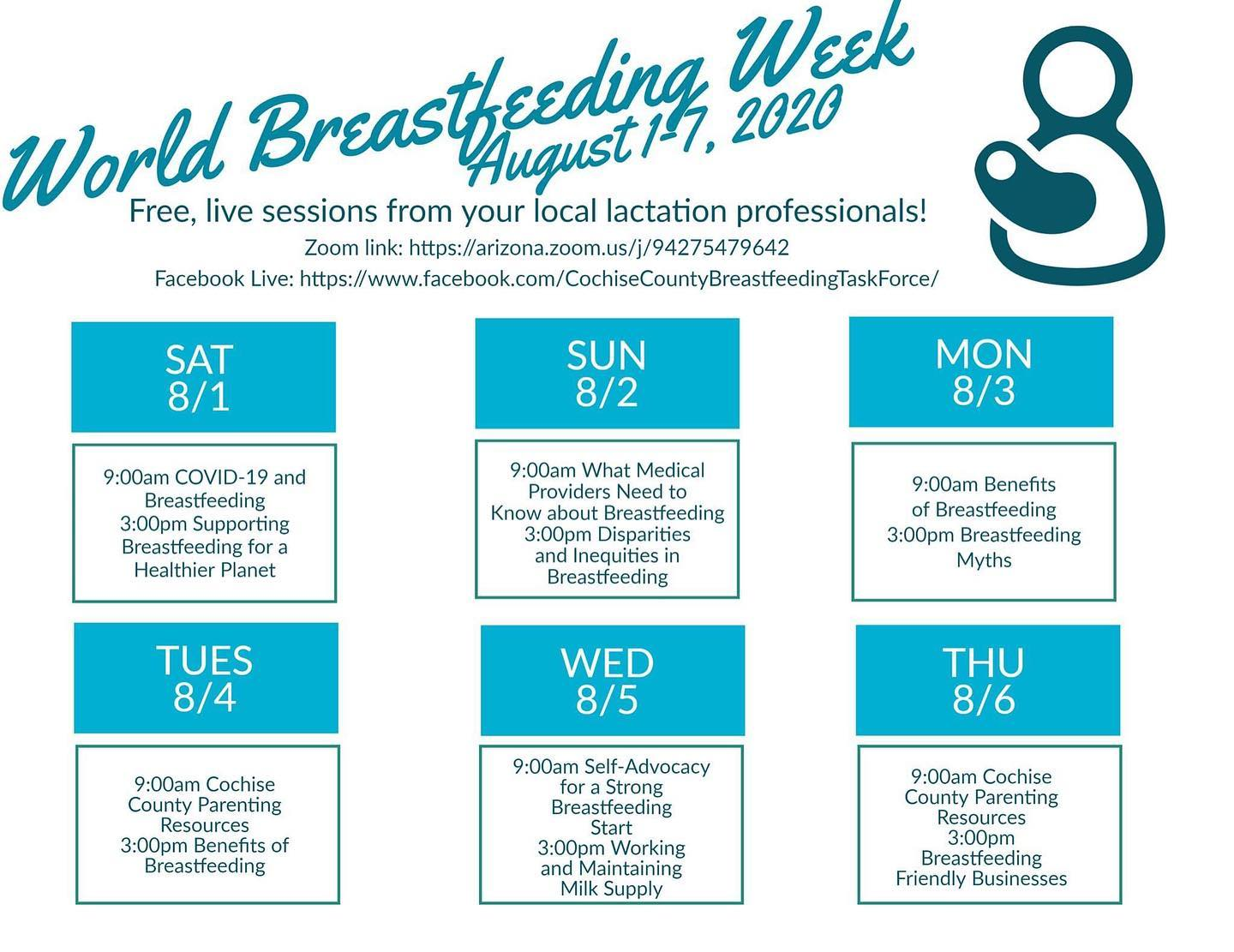 Cochise County Breastfeeding Task Force WBW Live Sessions