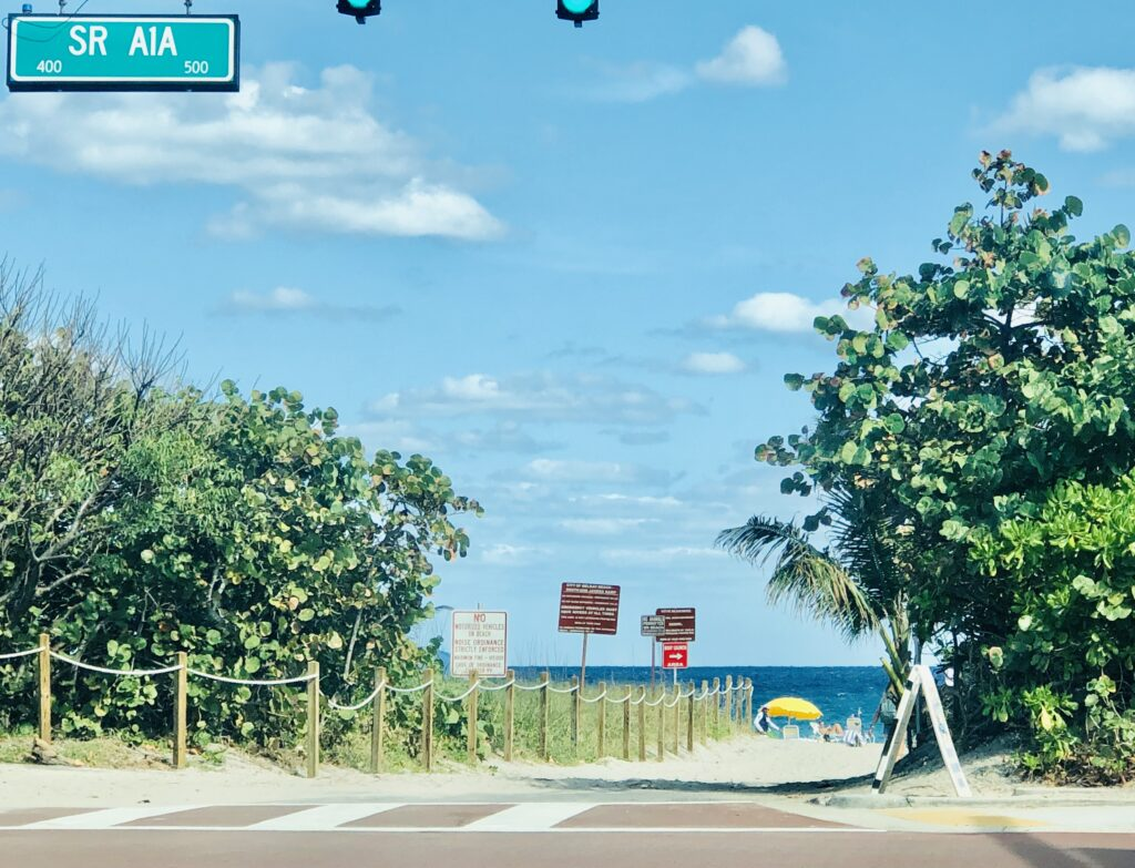 Take a drive down A1A and enjoy the  Atlantic Ocean and the beaches in Delray Beach
