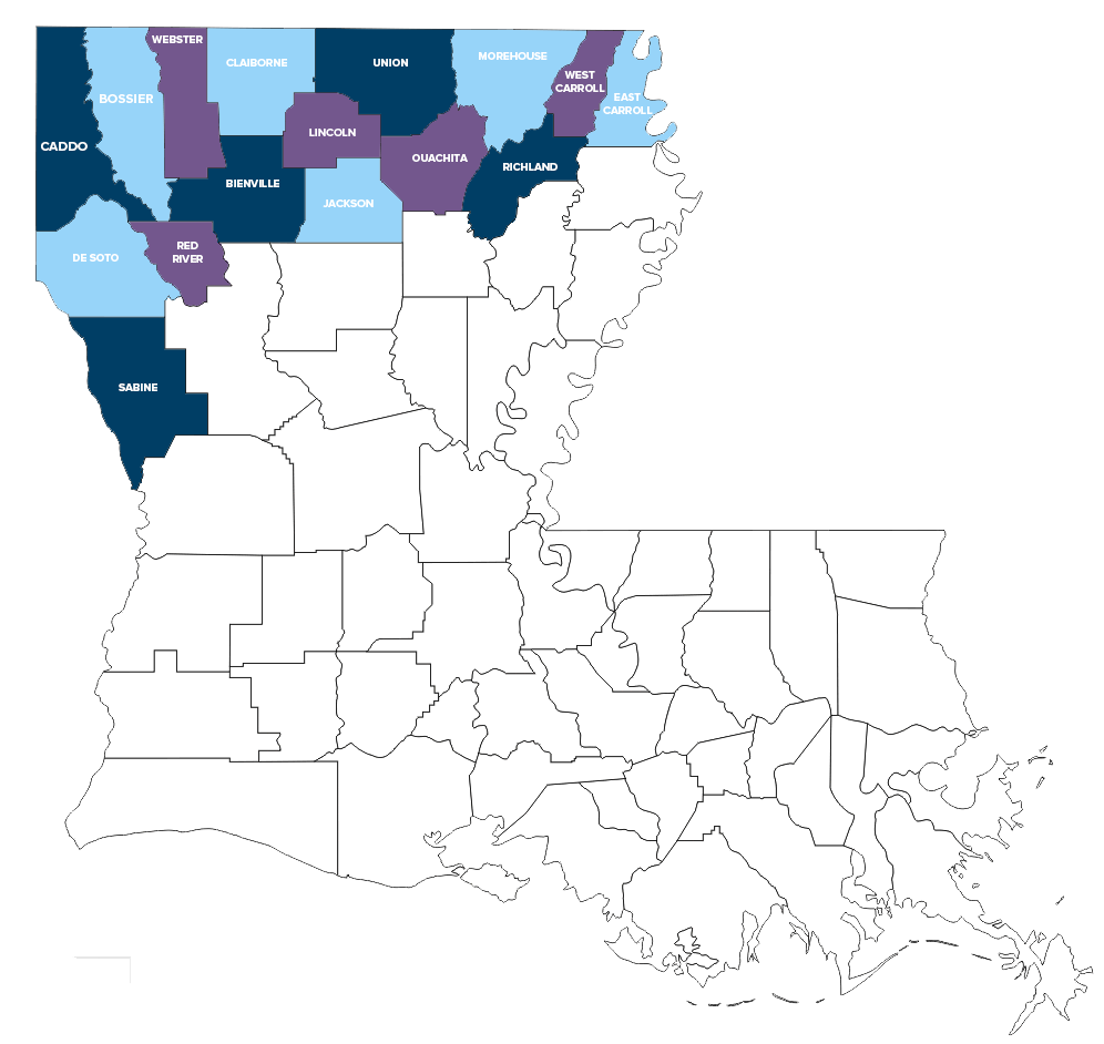 CCNLA service area 16 civil parishes