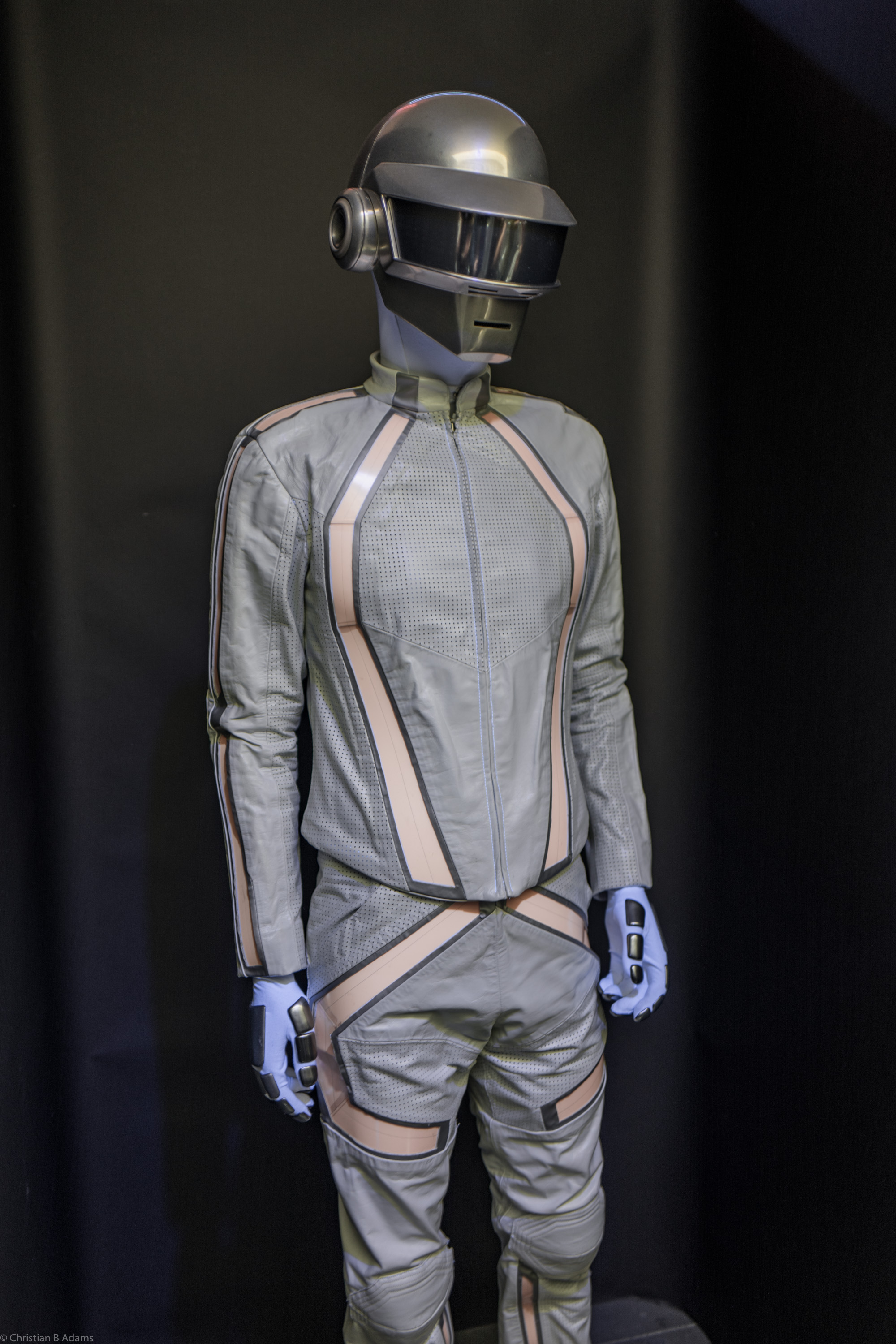 Thomas Bangalter's Tron: Legacy cameo robot costume at the Daft Punk Pop Up at Maxfield Gallery Los Angeles in February of 2017.