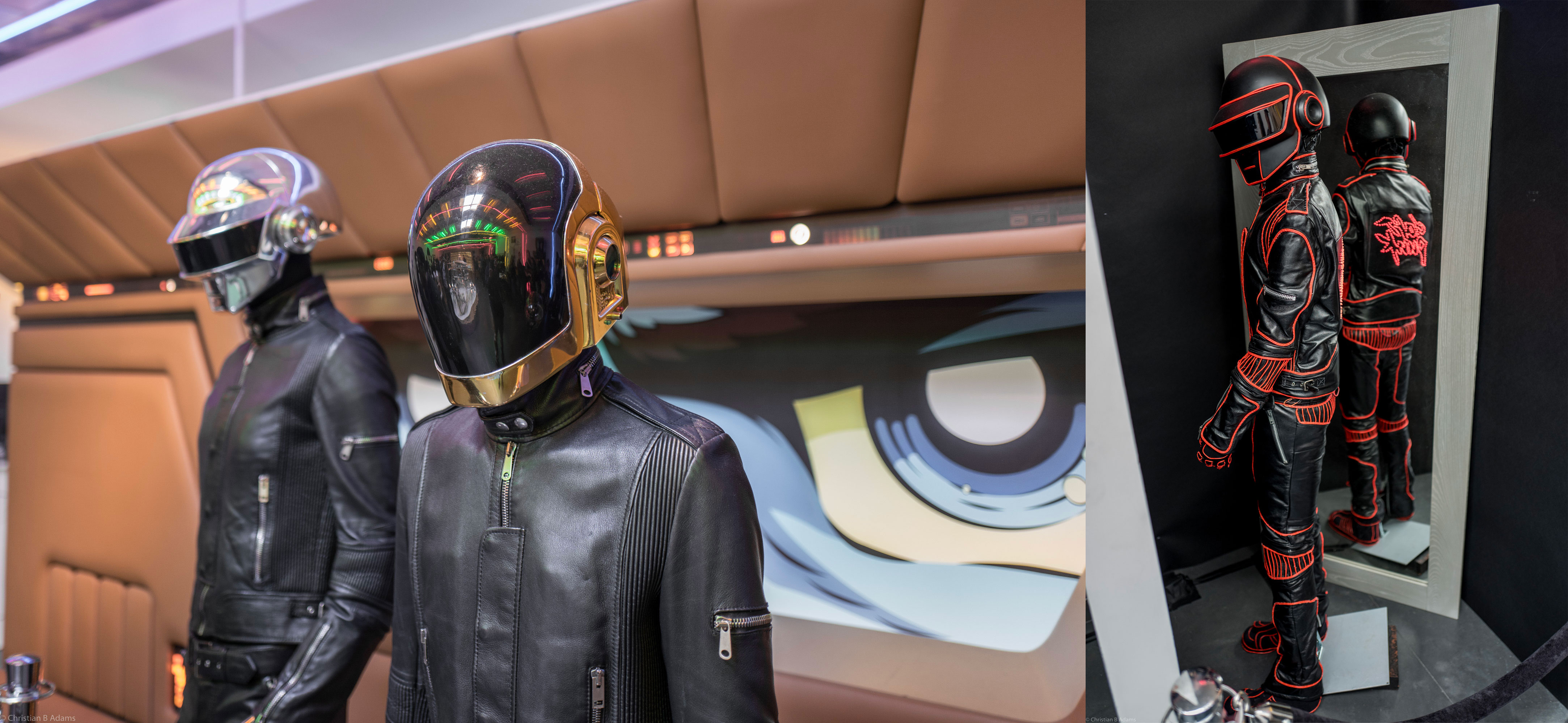 Human After All / Electroma / Alive 2007 Robots on display at the Daft Punk Pop Up at Maxfield Gallery in Los Angeles in February of 2017.