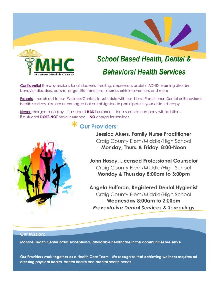 CCHC SBWC Health Flyer
