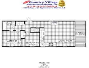7101 Cottage 16X52 2+1