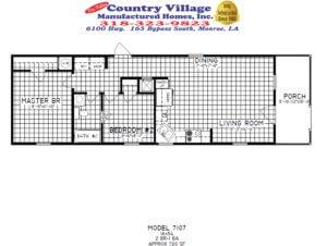 7107 Cottage 16x54 2+1