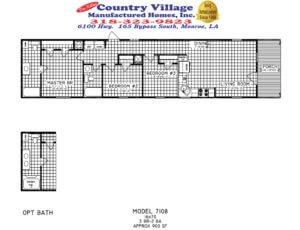 7108 Cottage 16x70 3+2