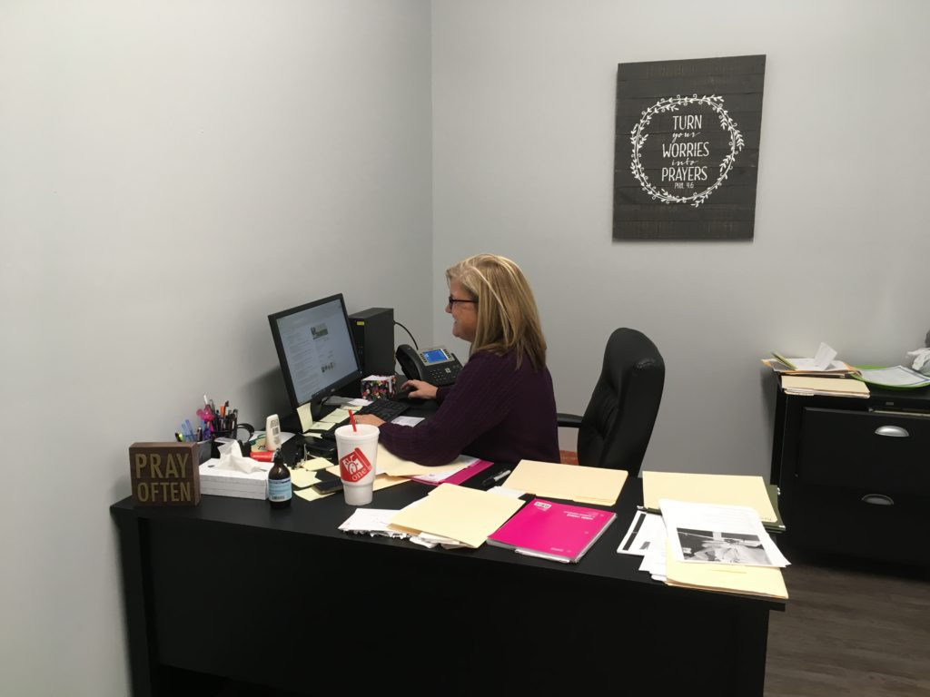 Tammy, our Office Manager, hard at work.