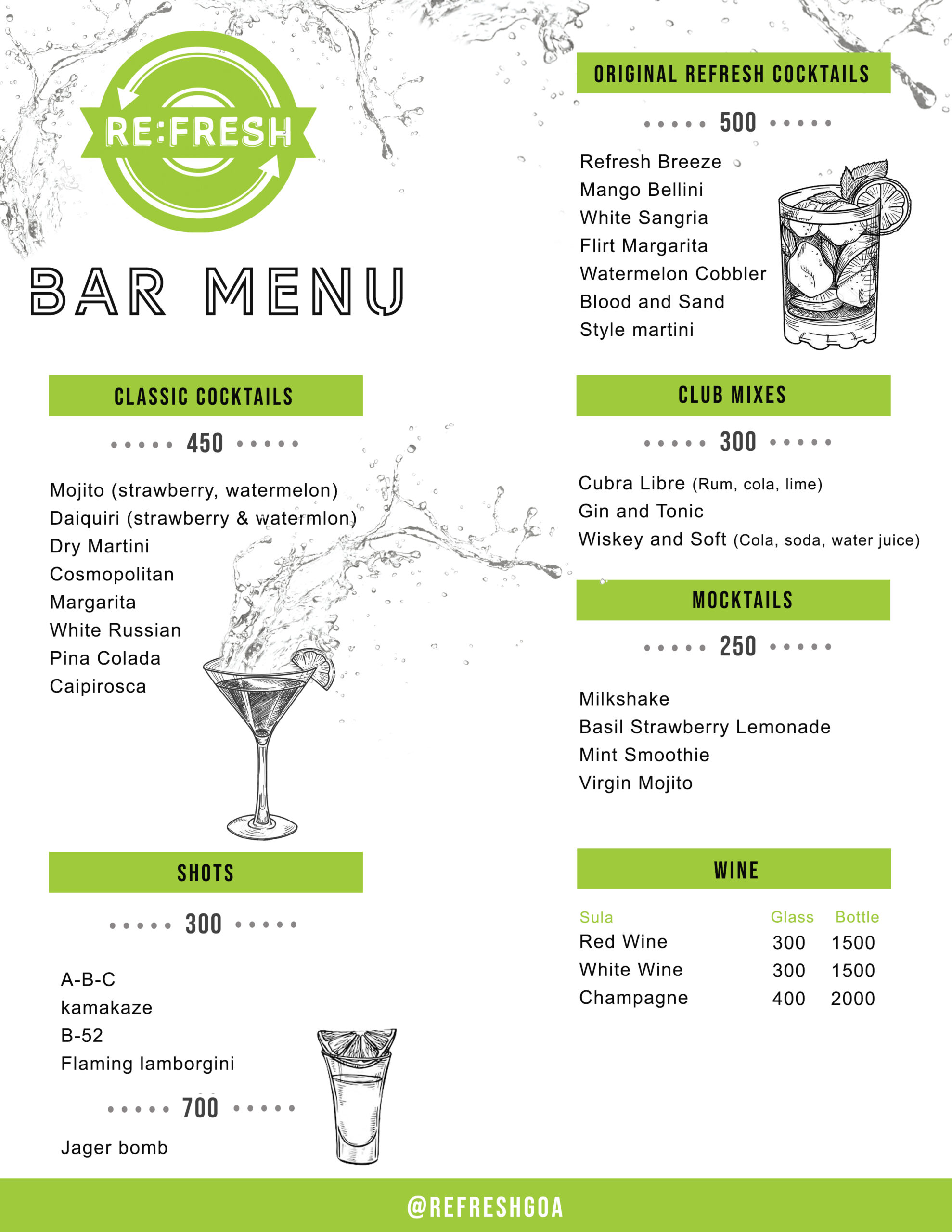 refresh bar menu front