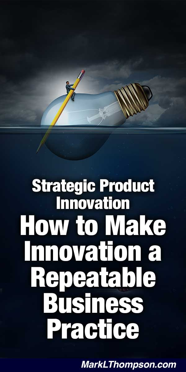 Strategic Product Innovation - How to Make Innovation a Repeatable Business Practice ... I have spent years working with corporations helping them learn techniques to make their companies more competitive. I have used techniques such as Strategic Thinking, New Product Creation, and Competitive Analysis.