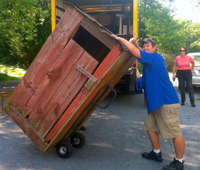 Moving company moving a senior