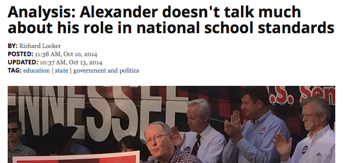 If the nation wants national standards, who do they want to put in charge of them? The non-profit who currently holds the copyright to the Common Core? The powers that be? Answers Senator Alexander?