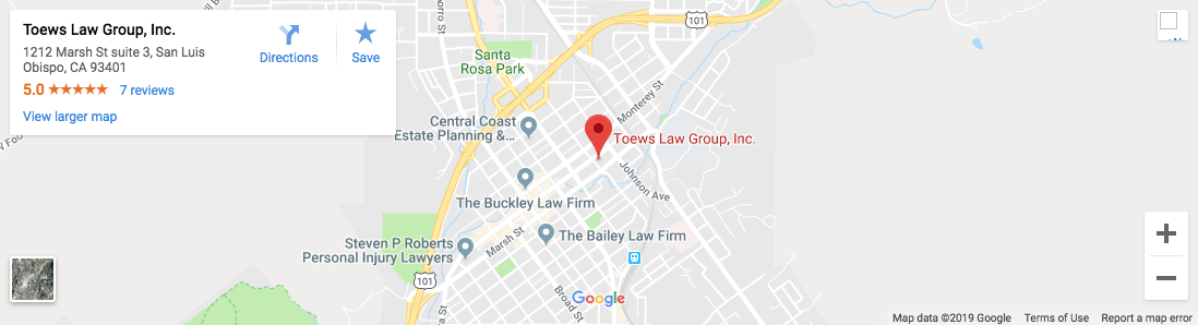 toews_location_map - Attorney Paso Robles