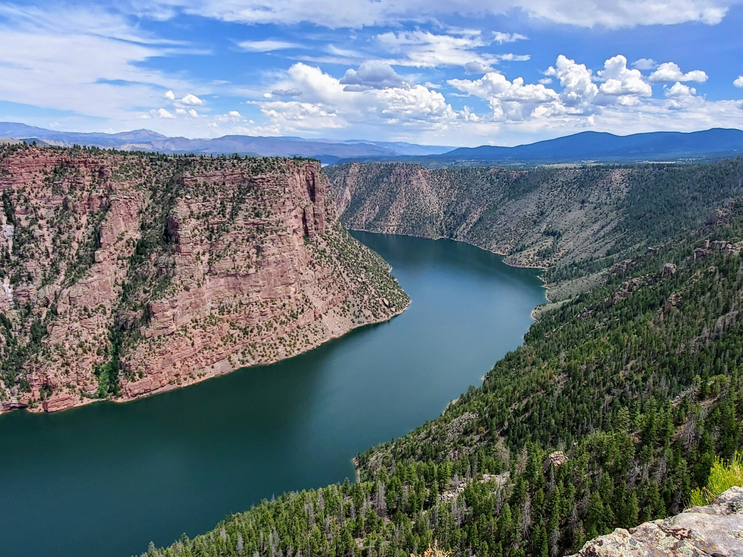 View at Flaming Gorge Visitor Center