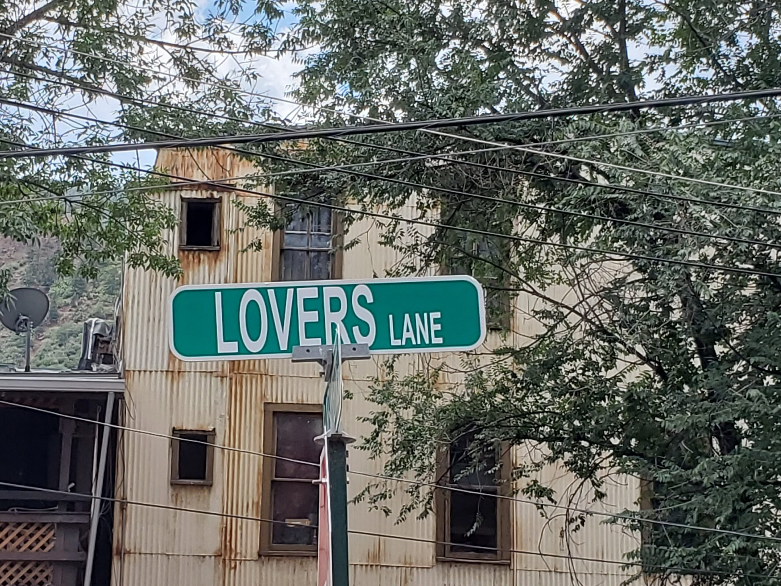 Lovers Lane Street Sign