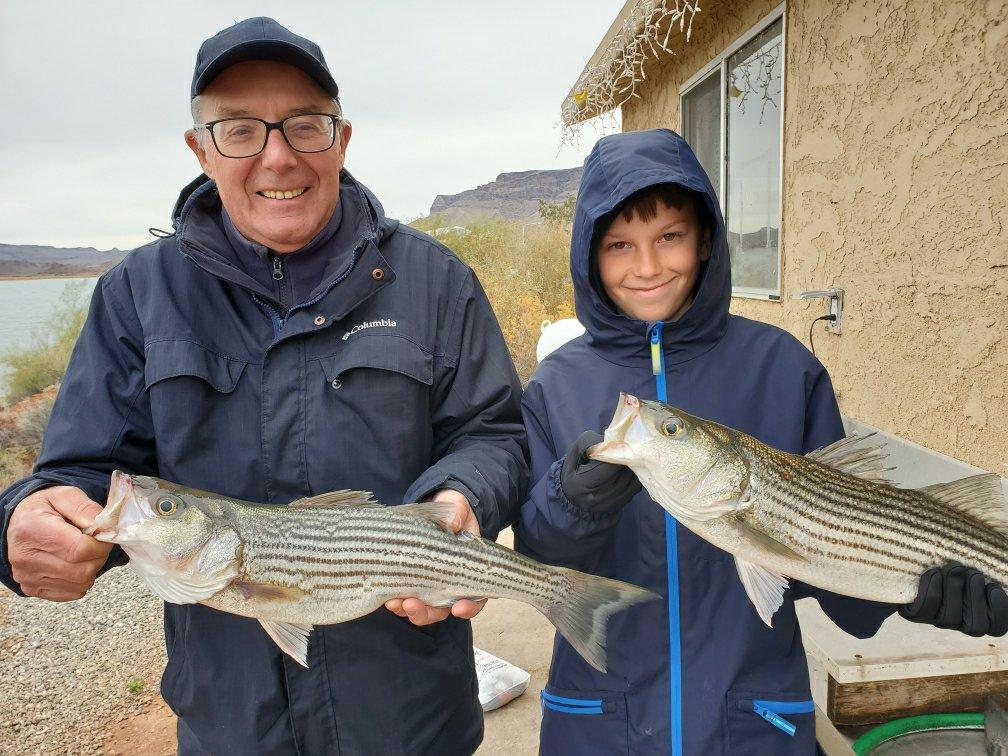 Grandpa-Grandson's successful fishing day