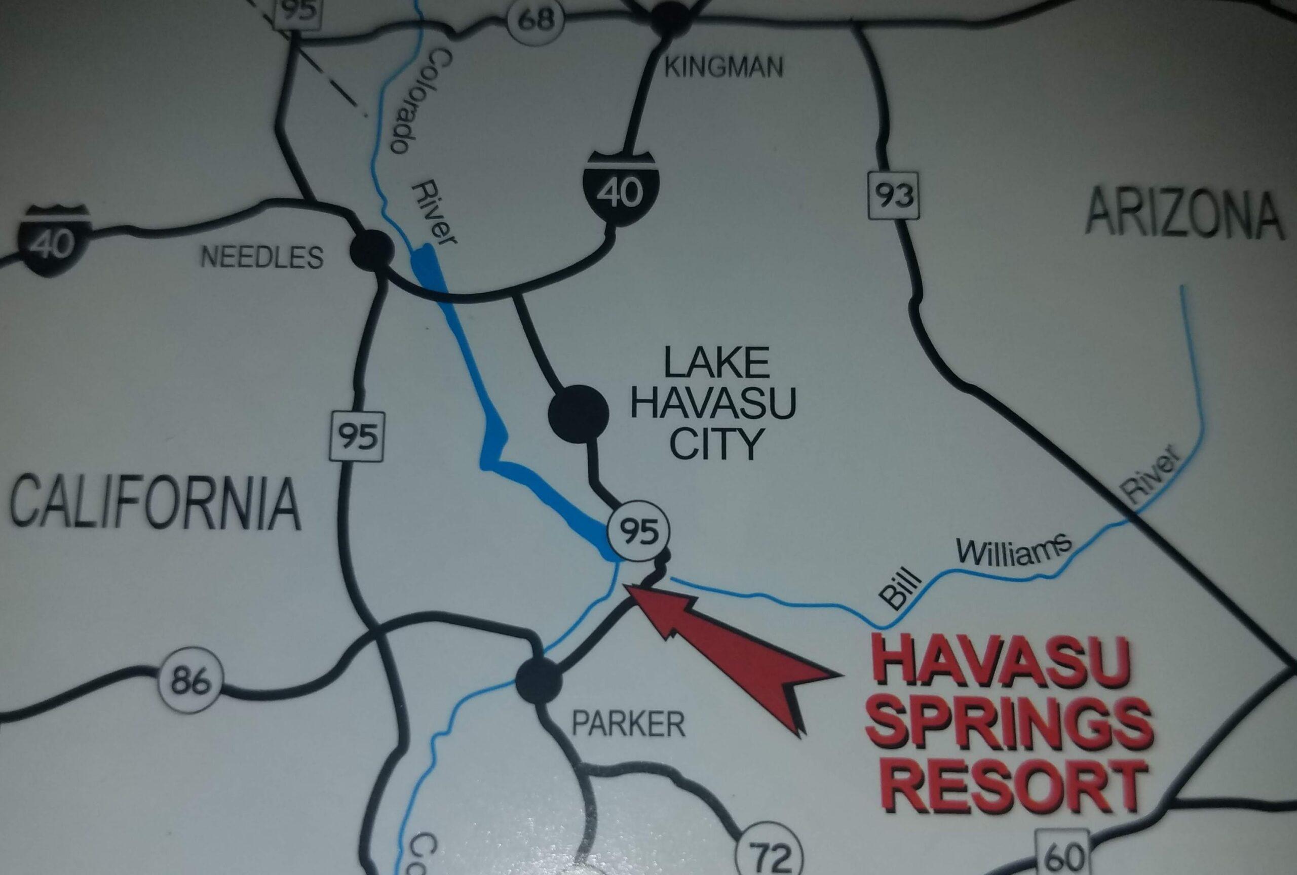 Map to Havasu Springs, AZ