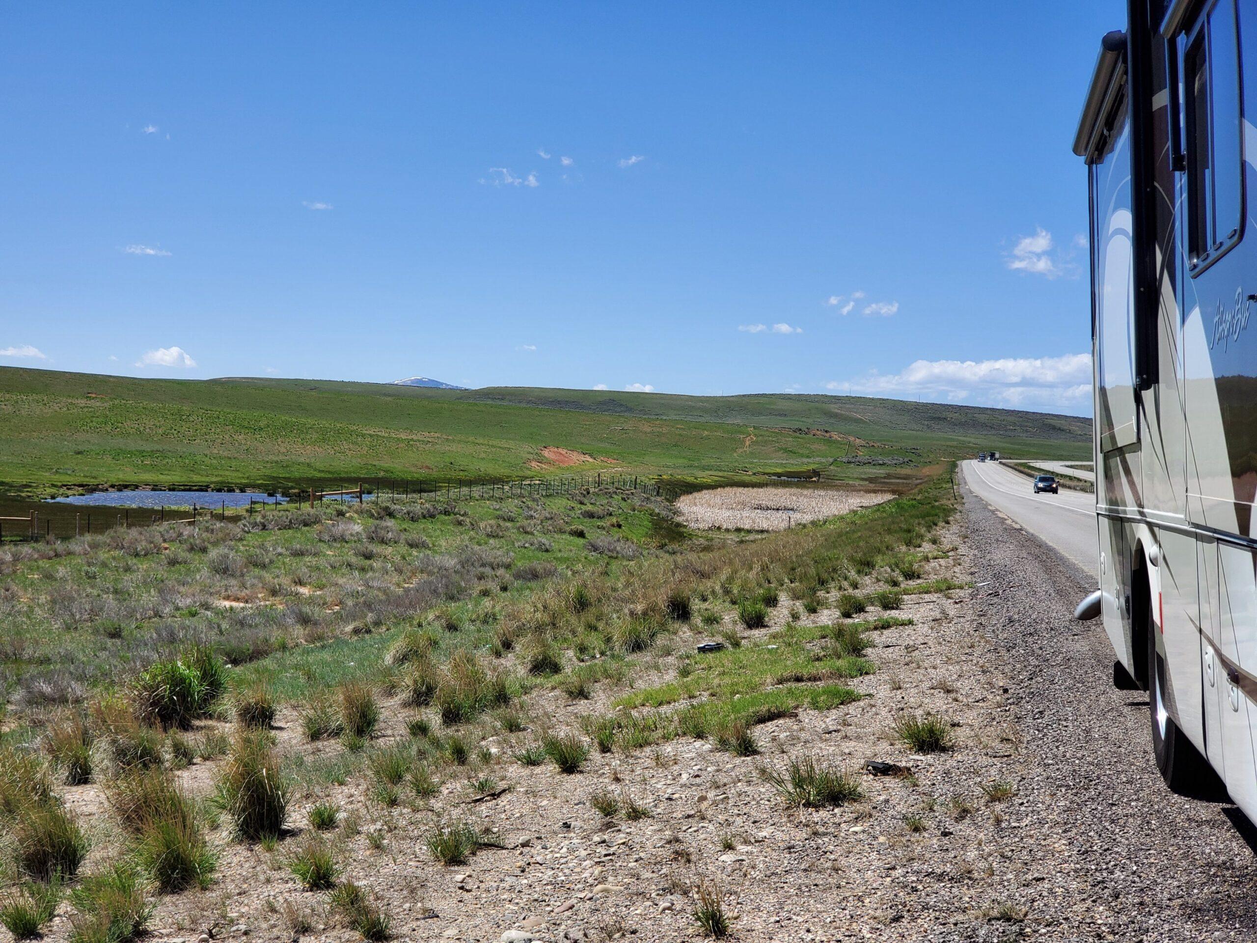 Pond along Hwy 80 Utah