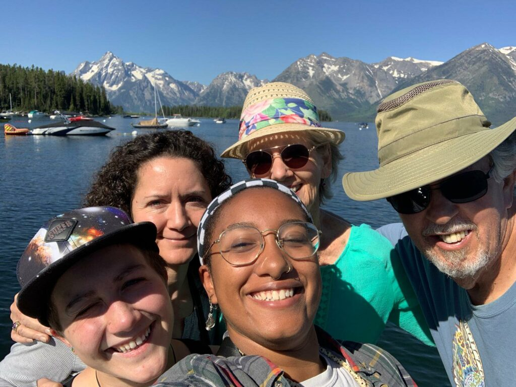 Family at Lake in Grand Teton NP